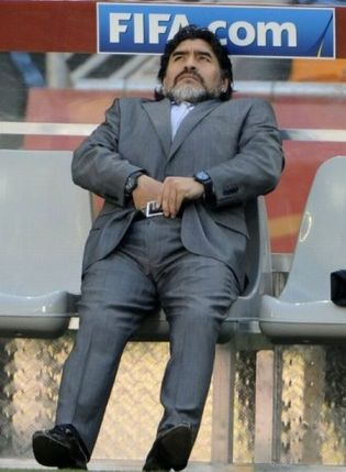 Maradona scratching his balls