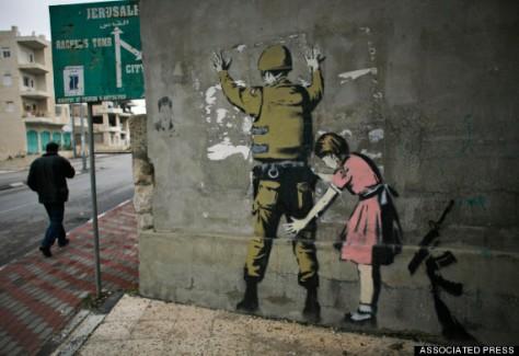 MIDEAST ISRAEL PALESTINIANS BANKSY